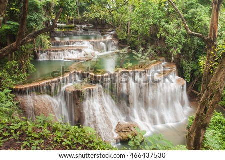 Huay Mae Kamin water fall