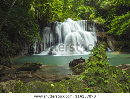 Huay mae kamin waterfall in thailand