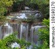 Huay Mae Khamin Waterfall ,Thailand - stock photo