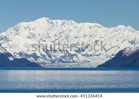 Hubbard Glacier in Yakutat Bay Alaska. - stock photo
