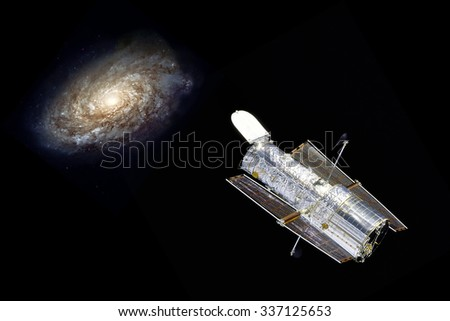 Hubble telescope observe a distant galaxy - Elements of this image furnished by NASA