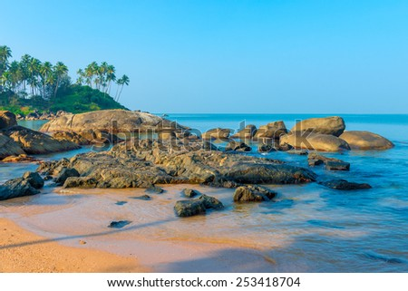 huge beautiful beaches in the marine lagoon - stock photo