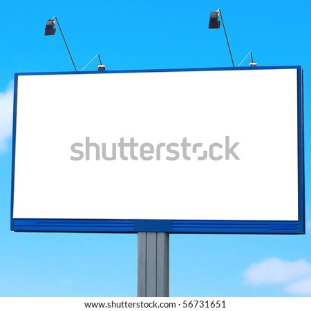 Huge Billboard - stock photo