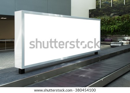 huge blank electronic billboard outdoors