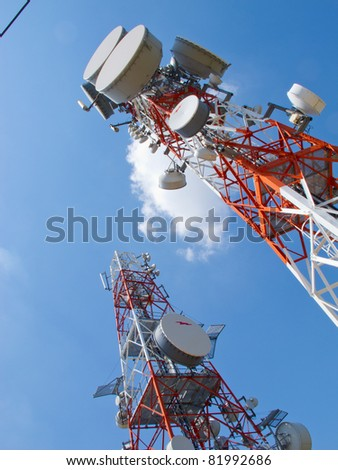 Huge complex of telecommunication antenna