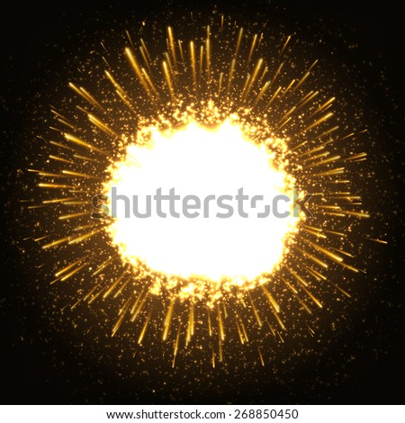 Huge Dazzle Explosion In the Space. - stock photo