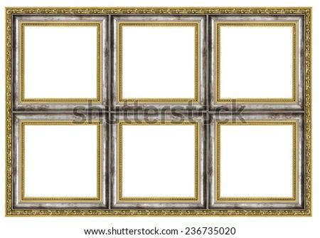 Huge frame isolated on pure white background - stock photo