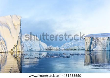 Huge Iceberg Greenland May 2016 - stock photo