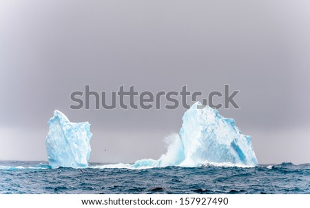 Huge iceberg in the South Atlantic