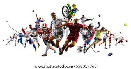 Huge multi sports collage soccer basketball football hockey baseball boxing etc