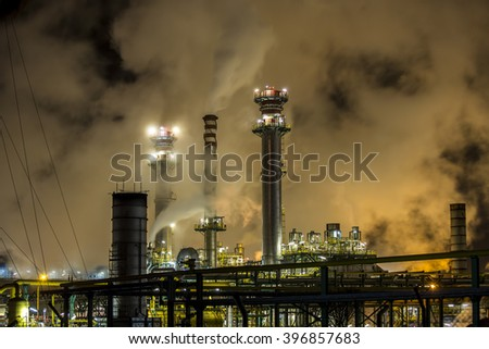 huge petrochemical plant in spain. good image for climate issues and pollution, energy and power