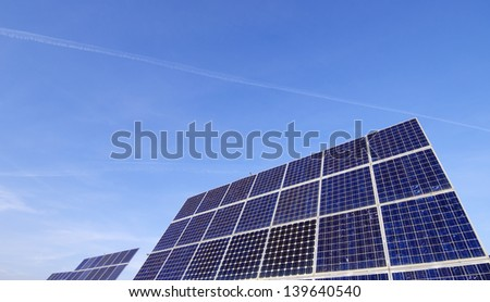 huge photovoltaic panels for renewable electricity production