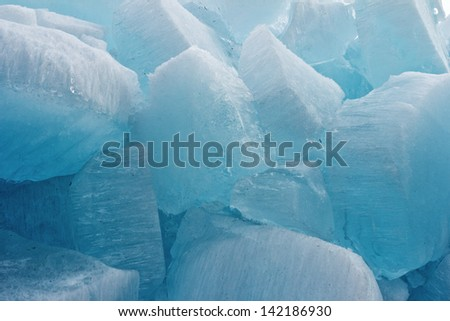 Huge pieces of ice on Baikal for an excellent background