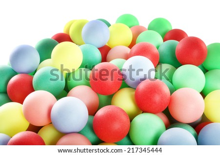 Huge pile of colorful balls - stock photo