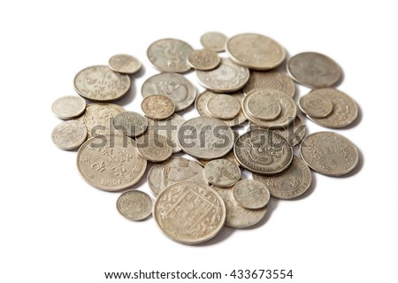 Huge pile of the China coins - stock photo