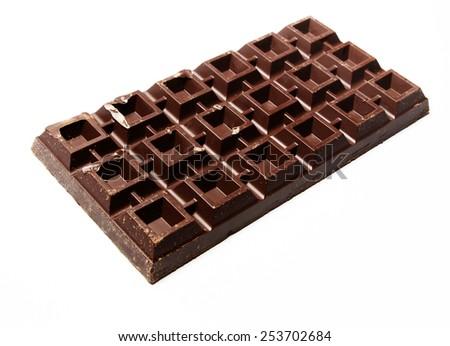 Huge plate of chocolate - stock photo