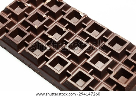 Huge plate of chocolate - stock photo