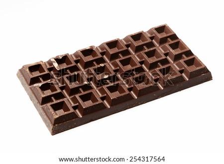 Huge plate of vegan chocolate - stock photo