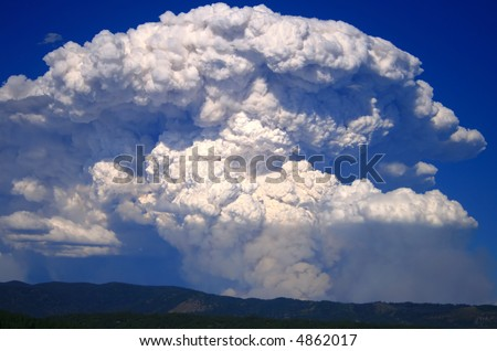 Huge plume over the mountains as the wind kicks up in central Idaho - stock photo