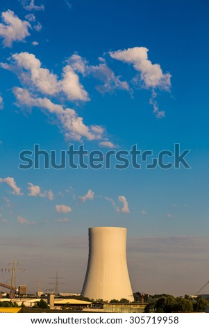 Huge Power station in Germany in summer day