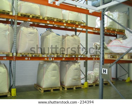 huge sacks - stock photo