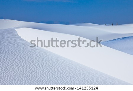 Huge sand dune in White Sands National Monument, New Mexico, USA - stock photo