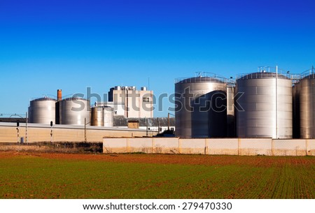 Huge warehouse facilities for agricultural sector - stock photo