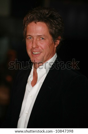 Hugh Grant at the World Premiere of 'The Golden Compass' at the Odeon Leicester Square in London - 27 November 2007 - stock photo