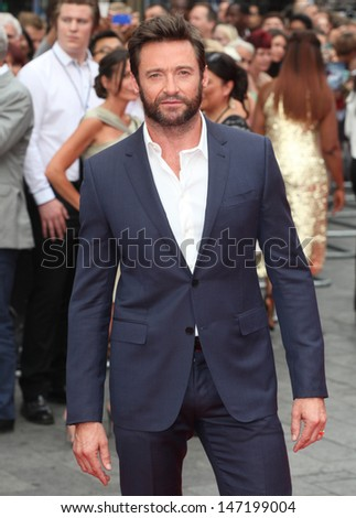 Hugh Jackman arriving for 'The Wolverine' premiere, Empire Leicester Square, London. 16/07/2013 - stock photo