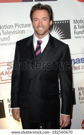 Hugh Jackman at Motion Picture & Television Fund Benefit - A FINE ROMANCE, Sony Pictures Studio, Los Angeles, CA, November 08, 2008 - stock photo