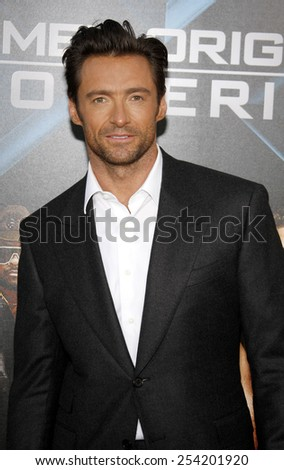 """Hugh Jackman at the Los Angeles Premiere of """"X-Men Origins: Wolverine"""" held at the Grauman's Chinese Theatre in Hollywood, California, United States on April 28, 2009.  - stock photo"""
