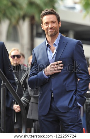 Hugh Jackman is honored with the 2,487th star on the Hollywood Walk of Fame. December 13, 2012  Los Angeles, CA Picture: Paul Smith - stock photo