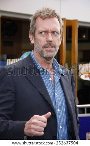 "Hugh Laurie at the Los Angeles Premiere of ""Hop"" held at the Universal Studios Hollywood in Los Angeles, California, United States on March 27, 2011.  - stock photo"