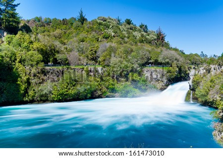 Huka Falls outside Taupo New Zealand - stock photo