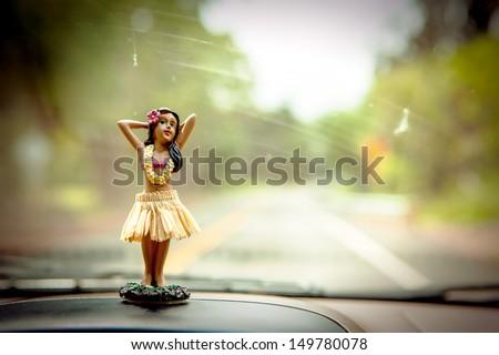Hula Dancer - stock photo