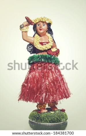 Hula Doll Hawaiian  - stock photo