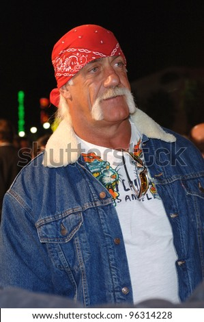 HULK HOGAN at the world premiere, in Hollywood, of Get Rich or Die Tryin'.  November 2, 2005  Los Angeles, CA.  2005 Paul Smith / Featureflash - stock photo