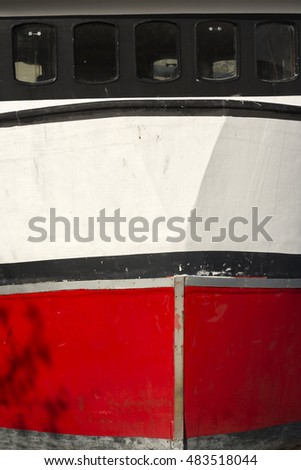 hull of a fishing boat in Mandal in Norway