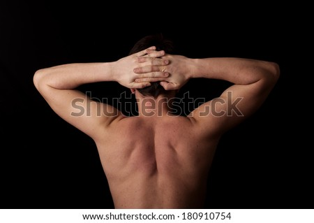 Human anatomy series: arms and back - stock photo