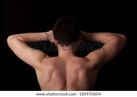 Human anatomy series: back and arms  - stock photo