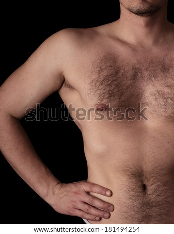 Human anatomy series: hand on hip - stock photo