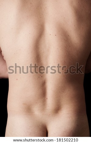 Human anatomy series: os sacrum  - stock photo