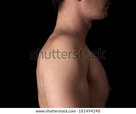 Human anatomy series: shoulder - stock photo