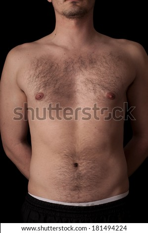 Human anatomy series: torso - stock photo