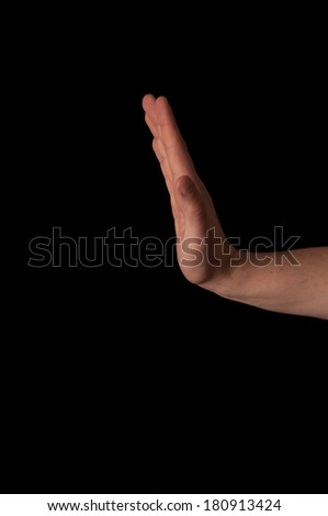 Human anatomy series: wrist rc dorsal flexion  - stock photo