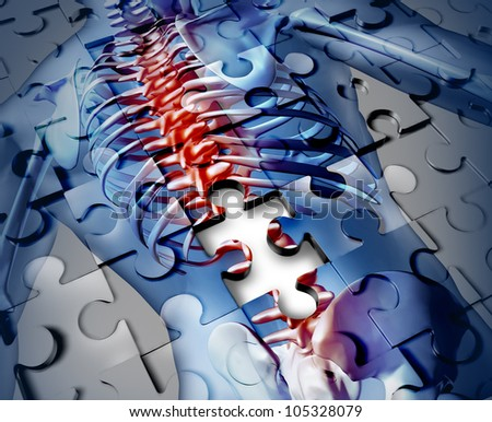 Human Back Disease Medical Concept Jigsaw Stock Illustration ...