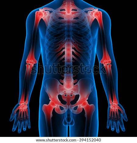 Human Body Bone Joint Pains - stock photo