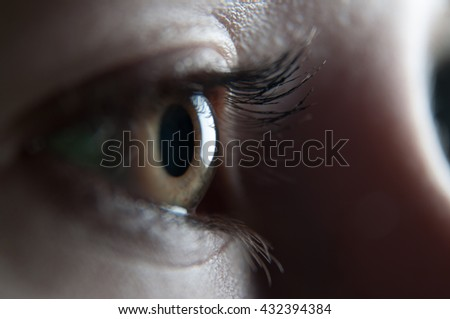 human body - detail of eye