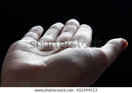 human body - detail of hand