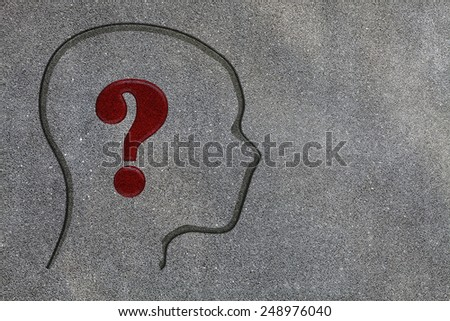 Human brain open with question mark for adv or others purpose use - stock photo